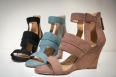 """Francie"" caged open toe wedge $115.00 at Nine West"